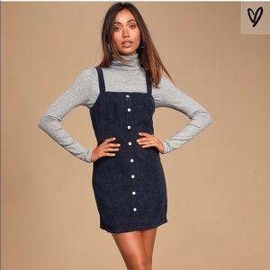PacSun Mini Corduroy Navy Dress Size XS